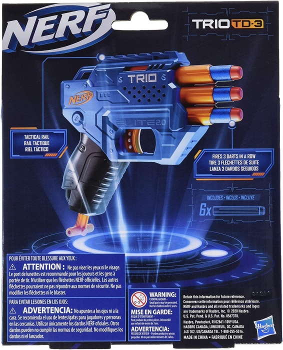 Blaster Nerf Elite 2.0 - Trio TD-3 [2]