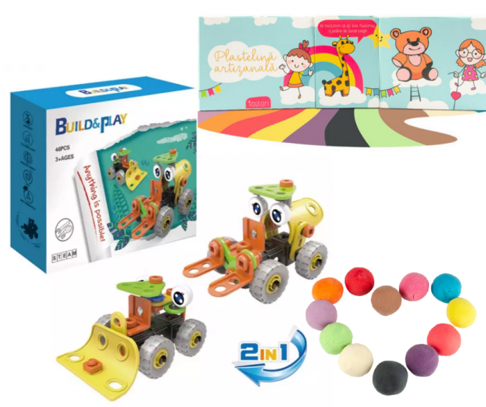 Set creativ Build & Play si Plastefina 1