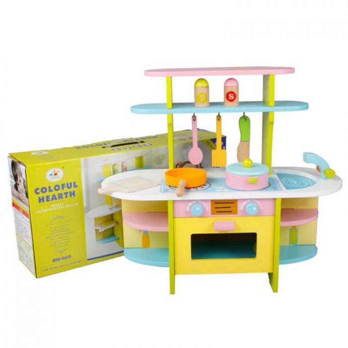 Bucatarie din lemn pentru copii, cu accesorii 1