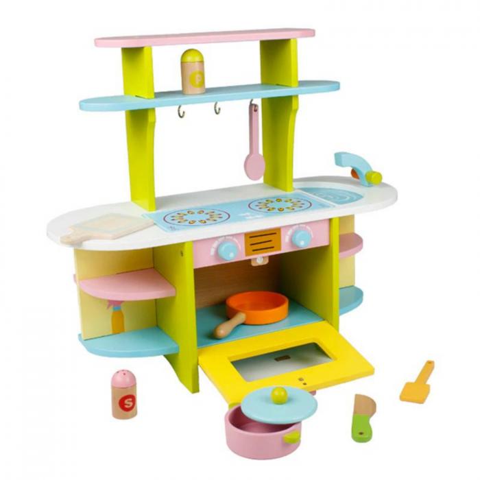 Bucatarie din lemn pentru copii, cu accesorii 0