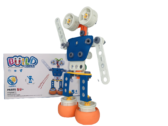 Set de constructie Robotul, 59 piese 1