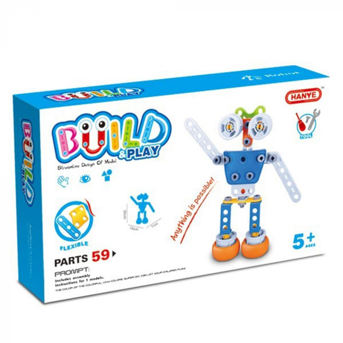 Set de constructie Robotul, 59 piese 6