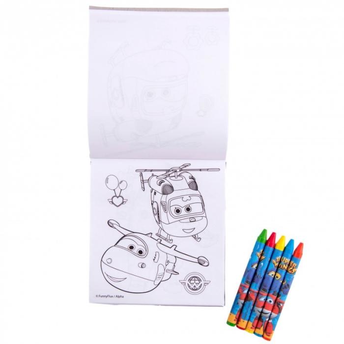 Caiet De Colorat Cu Creioane Cerate SUPER WINGS [1]
