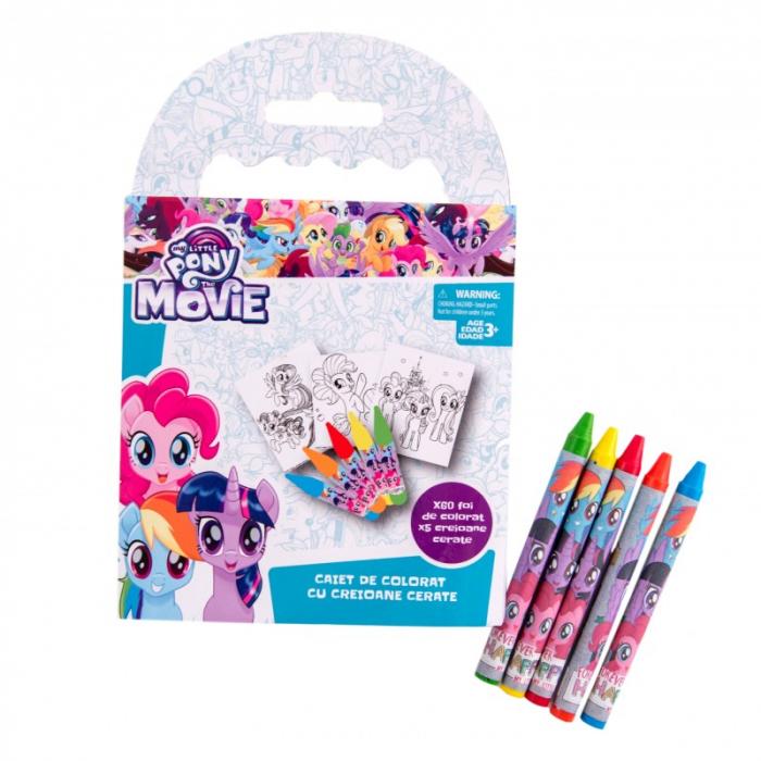 Caiet de colorat My Little Pony, cu creioane cerate 0