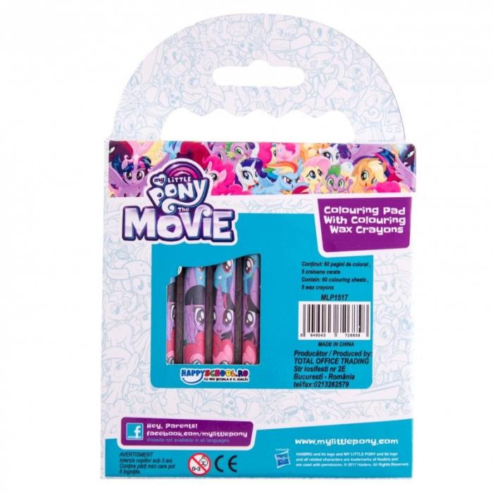 Caiet de colorat My Little Pony, cu creioane cerate 1