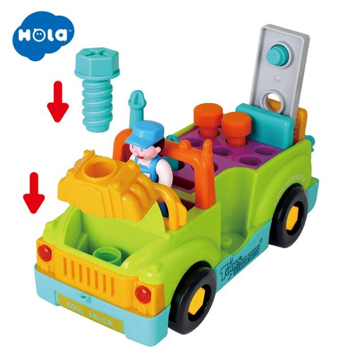 Camionul plin cu scule al micului mecanic cu lumini si sunete [6]