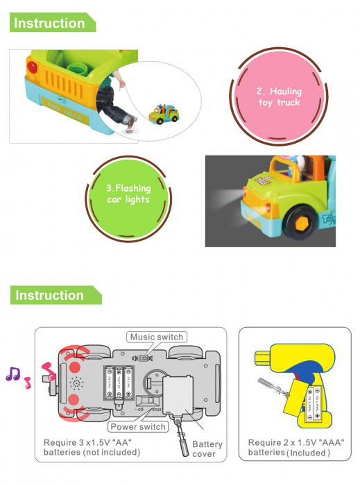 Camionul plin cu scule al micului mecanic cu lumini si sunete [4]