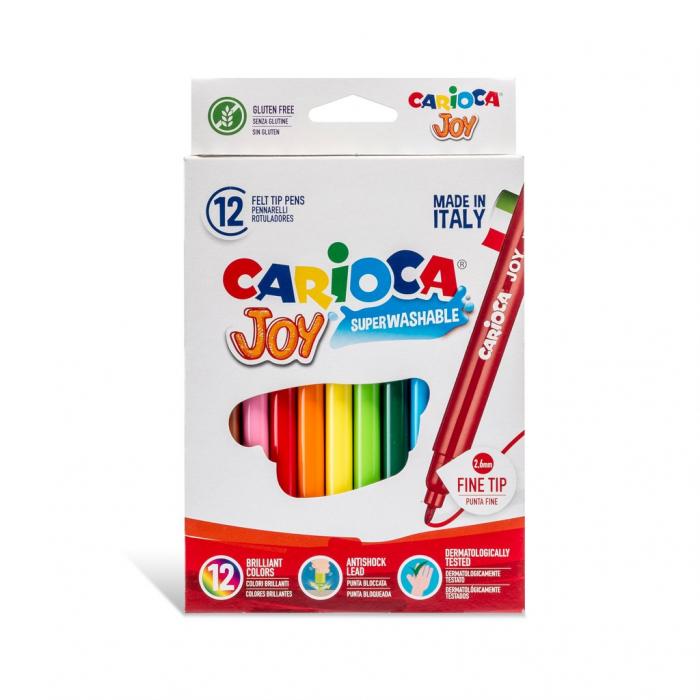 Carioca Joy - super lavabila, varf subtire Set 12 culori diferite 0