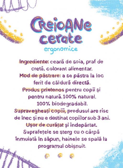 Ceriline - creioane cerate ergonomice, pachet 10 culori 3