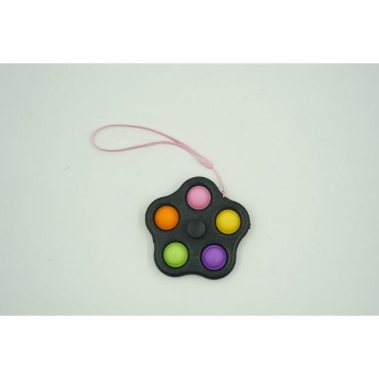 Jucarie spinner cu 5 buline, multicolor/negru [0]