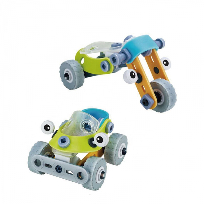 Set de constructie 2 in 1 Masina / tricicleta, 53 piese 0