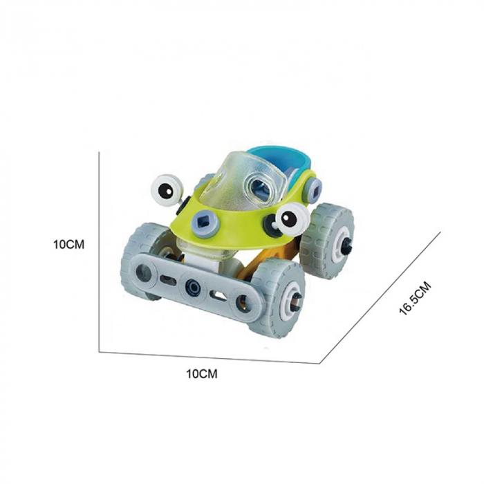 Set de constructie 2 in 1 Masina / tricicleta, 53 piese 1