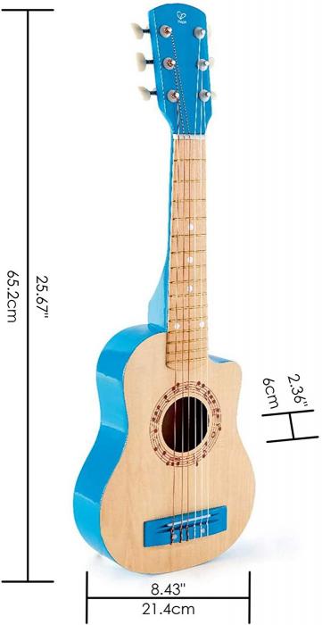 Chitara albastra vibranta, Hape [5]