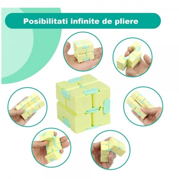 Infinity Magic Cube- Galben/ Albastru [2]