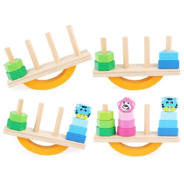 Joc lemn de echilibru, balansoar sortare forme si culori. [2]