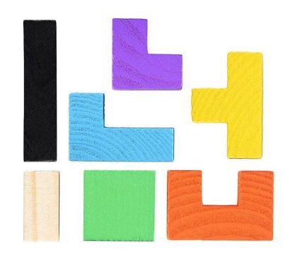 Joc logic Tetris din lemn. 4
