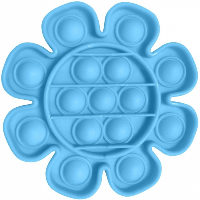 Jucarie Pop It Now & Flip It, Push Bubble Floare Albastru 0