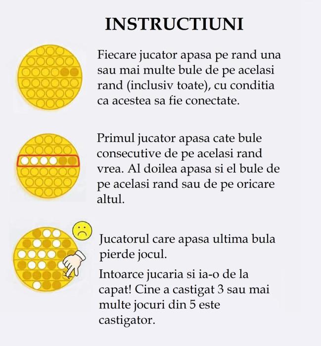 Jucarie Pop It Now & Flip It, Push Bubble Floare Portocaliu [1]