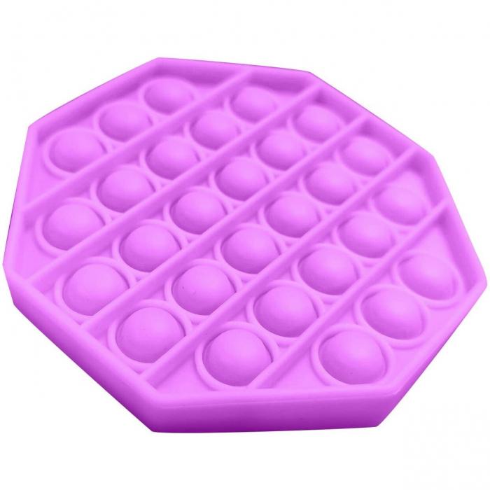 Jucarie Pop It Now & Flip It, Push Bubble Octogon Mov [1]