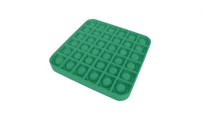 Jucarie Pop It Now & Flip It, Push Bubble Patrat Verde 1