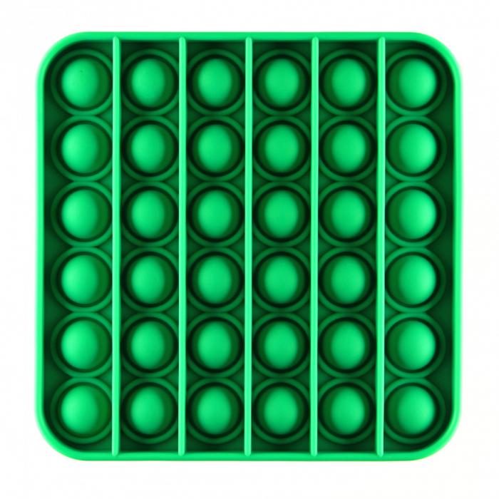 Jucarie Pop It Now & Flip It, Push Bubble Patrat Verde 0