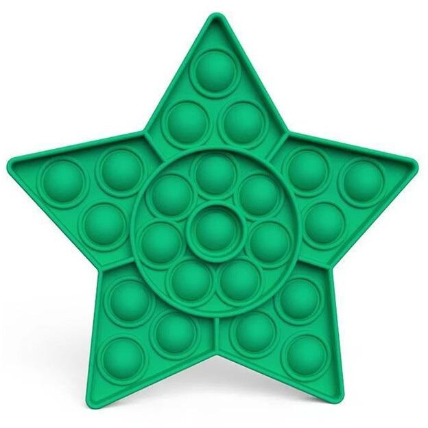 Jucarie Pop It Now & Flip It, Push Bubble Stea verde 1