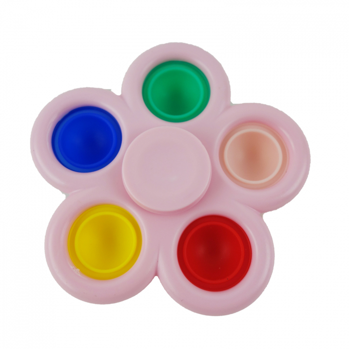 Jucarie spinner cu 5 buline, multicolor/roz [1]