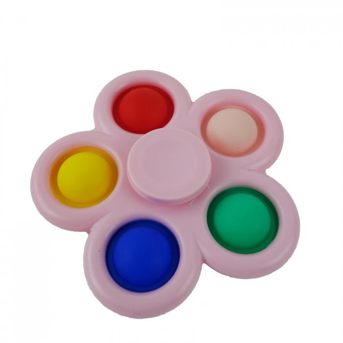 Jucarie spinner cu 5 buline, multicolor/roz [2]