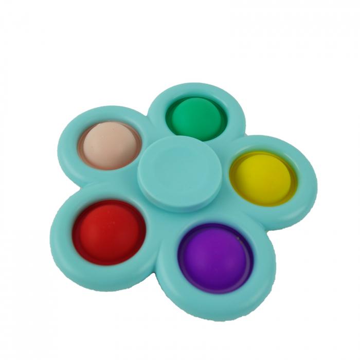 Jucarie spinner cu 5 buline, multicolor/albastru [0]