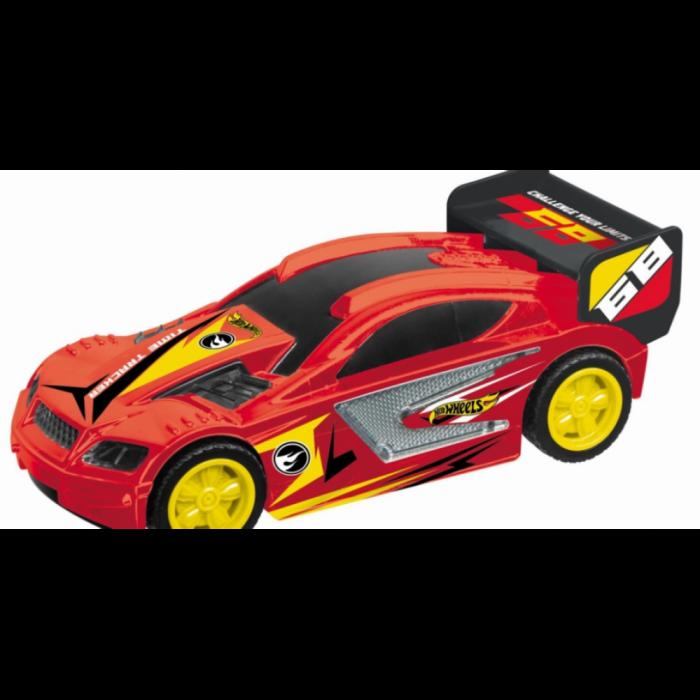 Masinuta pull back Hot Wheels Hot Wheels - Time Tracker, Rosu 1