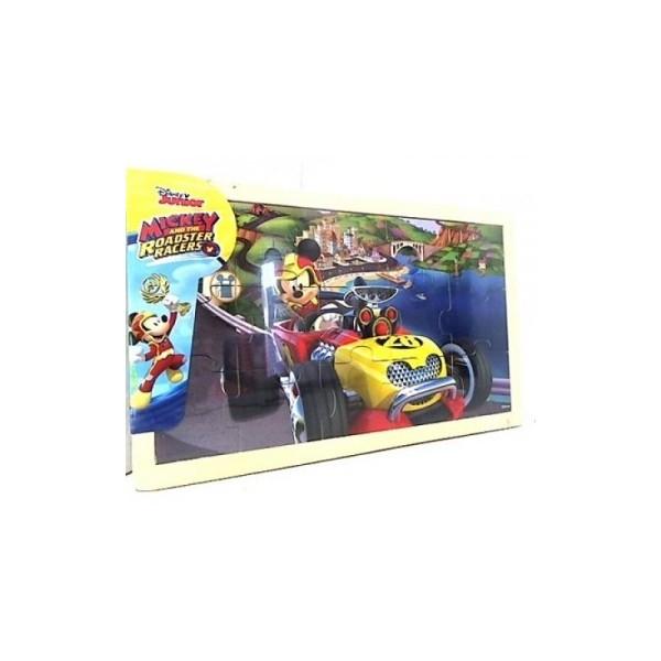 Mickey Si Pilotii De Curse- Puzzle Din Lemn-15 Piese 1