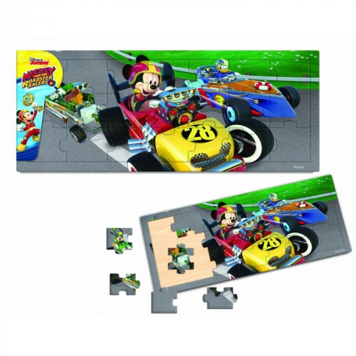 Mickey Si Pilotii De Curse- Puzzle Din Lemn-15 Piese 0