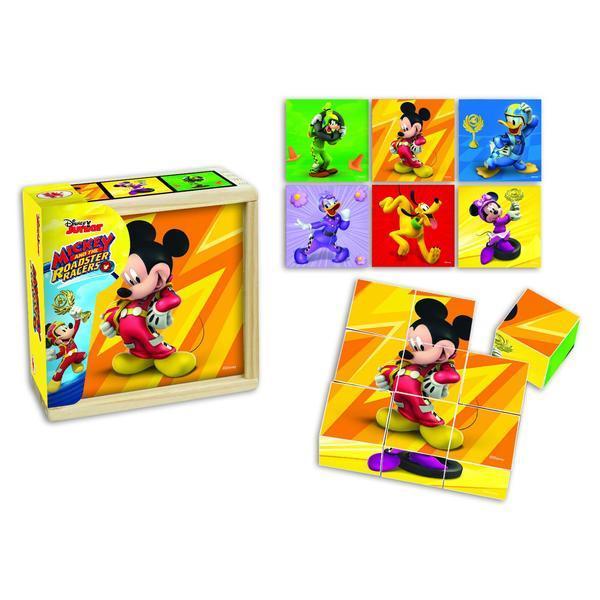 Mickey Si Pilotii De Curse- Puzzle In Cutie De Lemn [0]