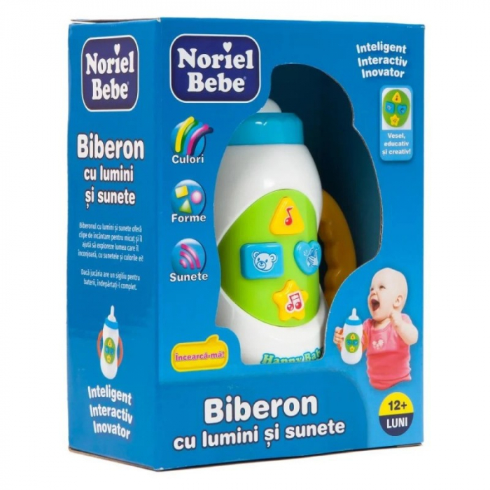 Noriel Bebe - Biberon cu lumini si sunete 0