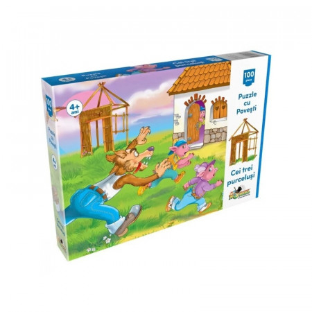 Noriel Puzzle 100 piese - Cei Trei Purcelusi 0