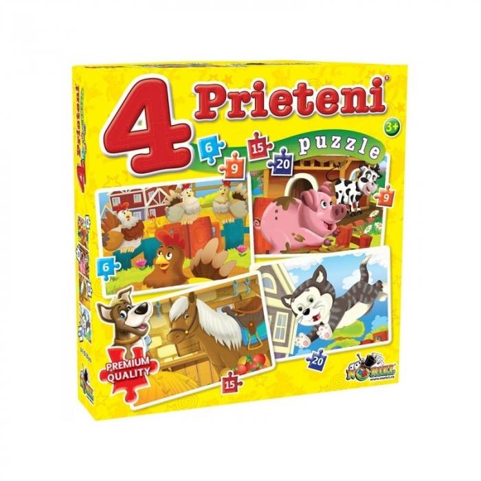 Noriel Puzzle - 4 Prieteni Mici (6, 9, 15, 20 piese) [0]