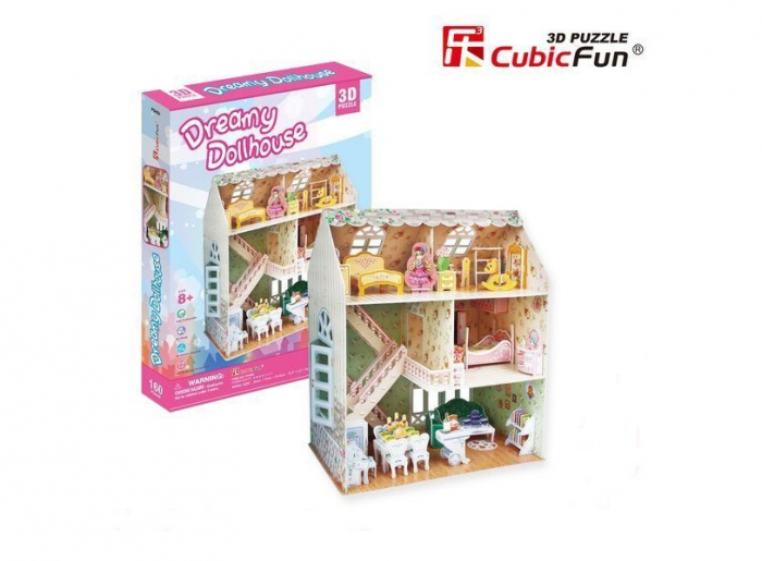Puzzle 3D CubicFun-Casuta Papusilor 160 Piese [5]