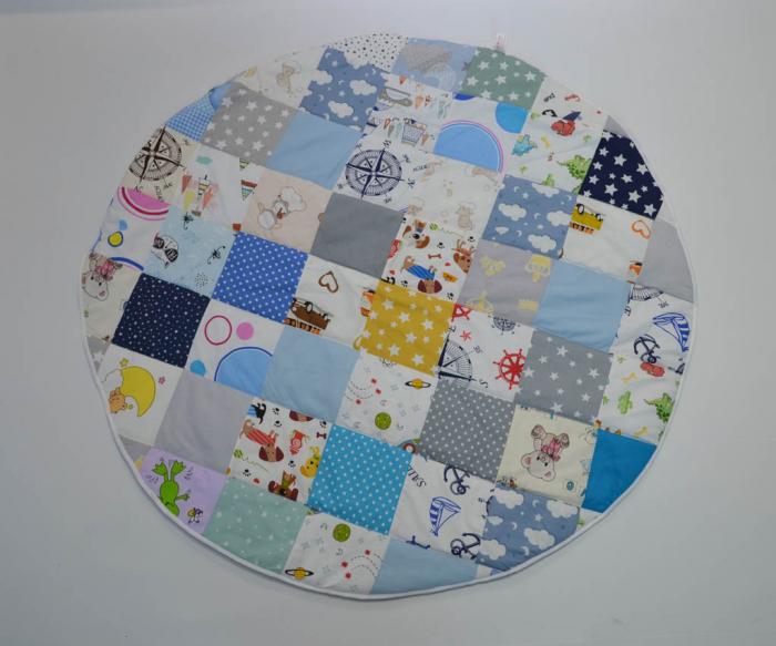 Paturică pentru baldachin, ovală, tip patchwork 0