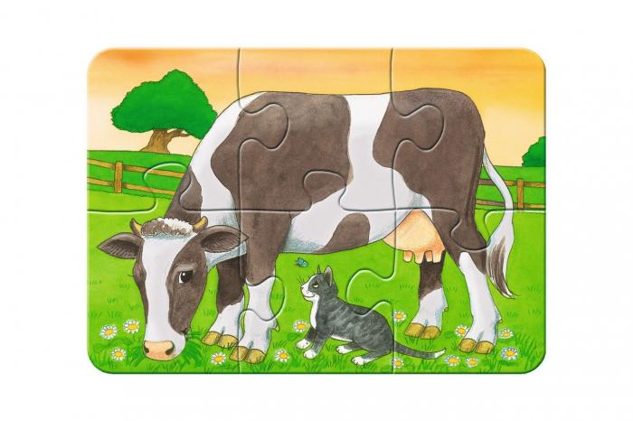Primul Meu Puzzle- Animale De La Ferma, 2/4/6/8 Piese [3]