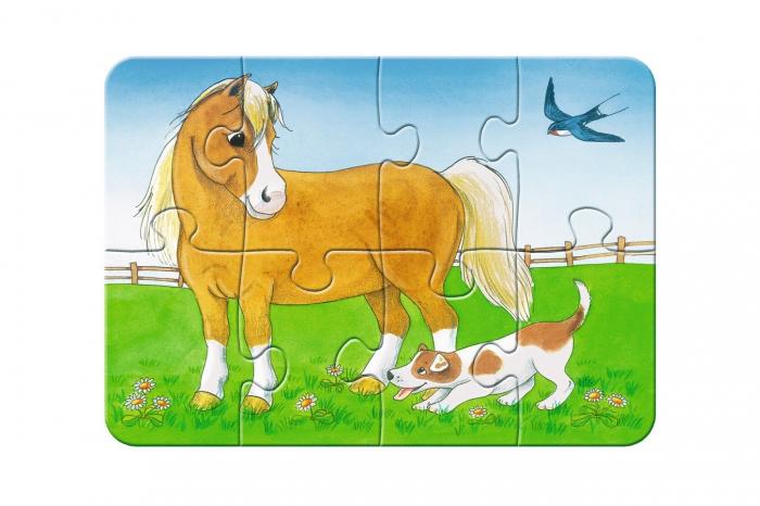 Primul Meu Puzzle- Animale De La Ferma, 2/4/6/8 Piese [2]