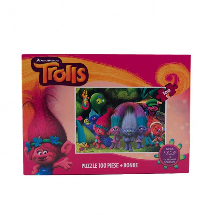 Puzzle 100 piese Trolls 1