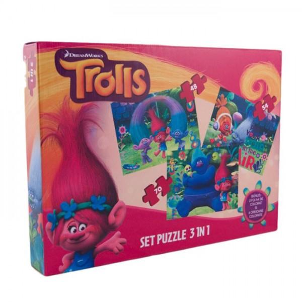 Puzzle 3 in 1 Trolls 1