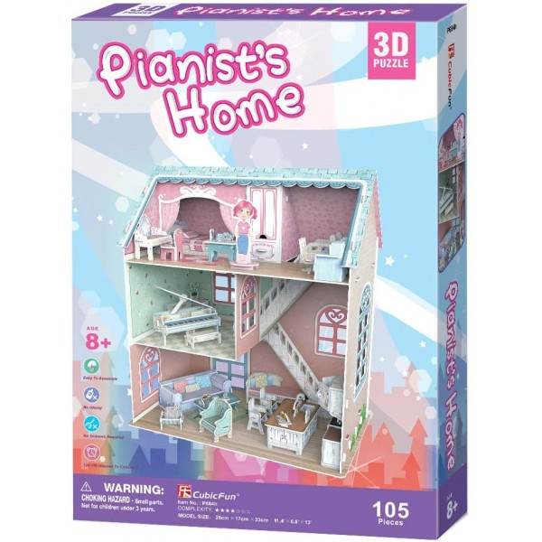 Puzzle 3D Casa Pianistului 105 Piese [0]