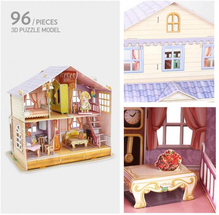 Puzzle 3D CubicFun-Casuta Papusilor  Sara's Home [2]