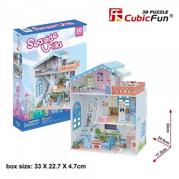 Puzzle 3D CubicFun-Casuta Papusilor VIla de la mare [4]