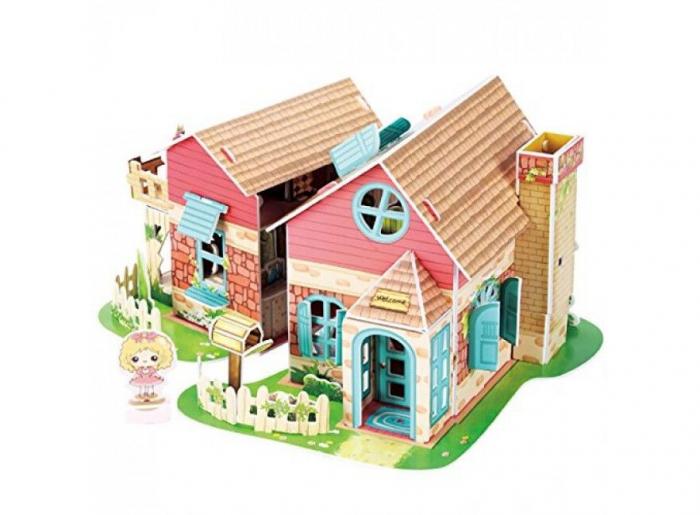Puzzle 3D CubicFun-Sweet Villa 84 Piese [1]