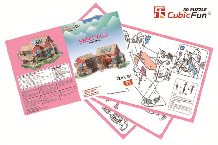 Puzzle 3D CubicFun-Sweet Villa 84 Piese [4]
