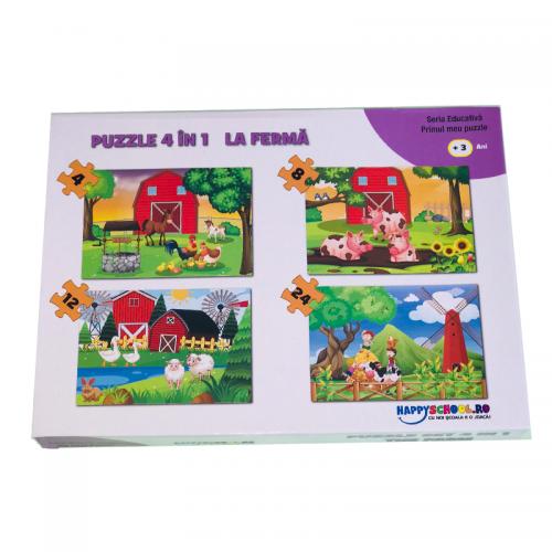 Puzzle 4 In 1 La Ferma [1]