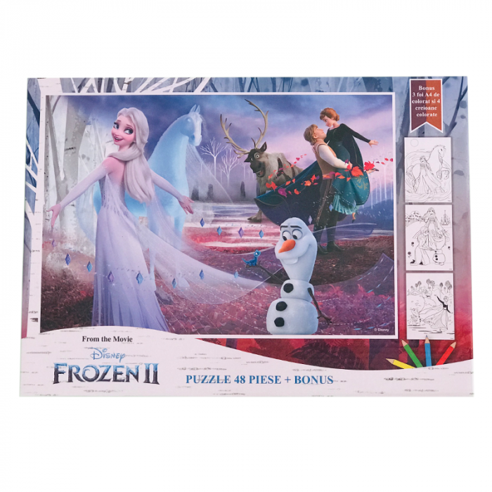 Puzzle 48 Piese + Bonus Frozen 2 [0]