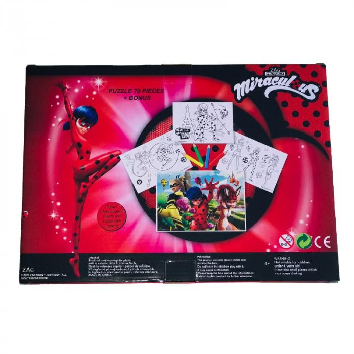 Puzzle 70 Piese + Bonus Miraculous 2